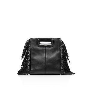 Maje mini M bag. Black
